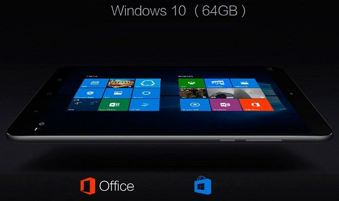 Планшет работает на Windows 10