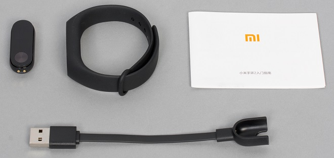 Комплектация браслета Xiaomi mi band 2